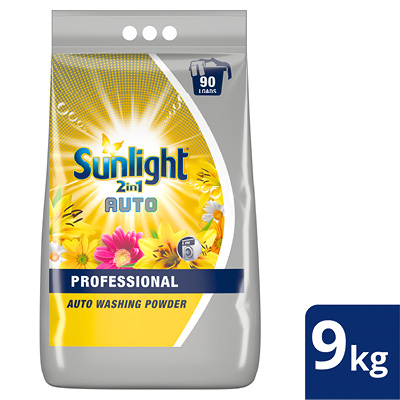 Unilever Professional Sunlight 2-in-1 Auto Washing Powder  - Sunlight 2-in-1 Auto Washing Powder has a longer shelf life which means it can be bought in bulk. With Optical Brightener, it delivers a powerful clean and sensational fragrance whilst being delicate on fabrics.