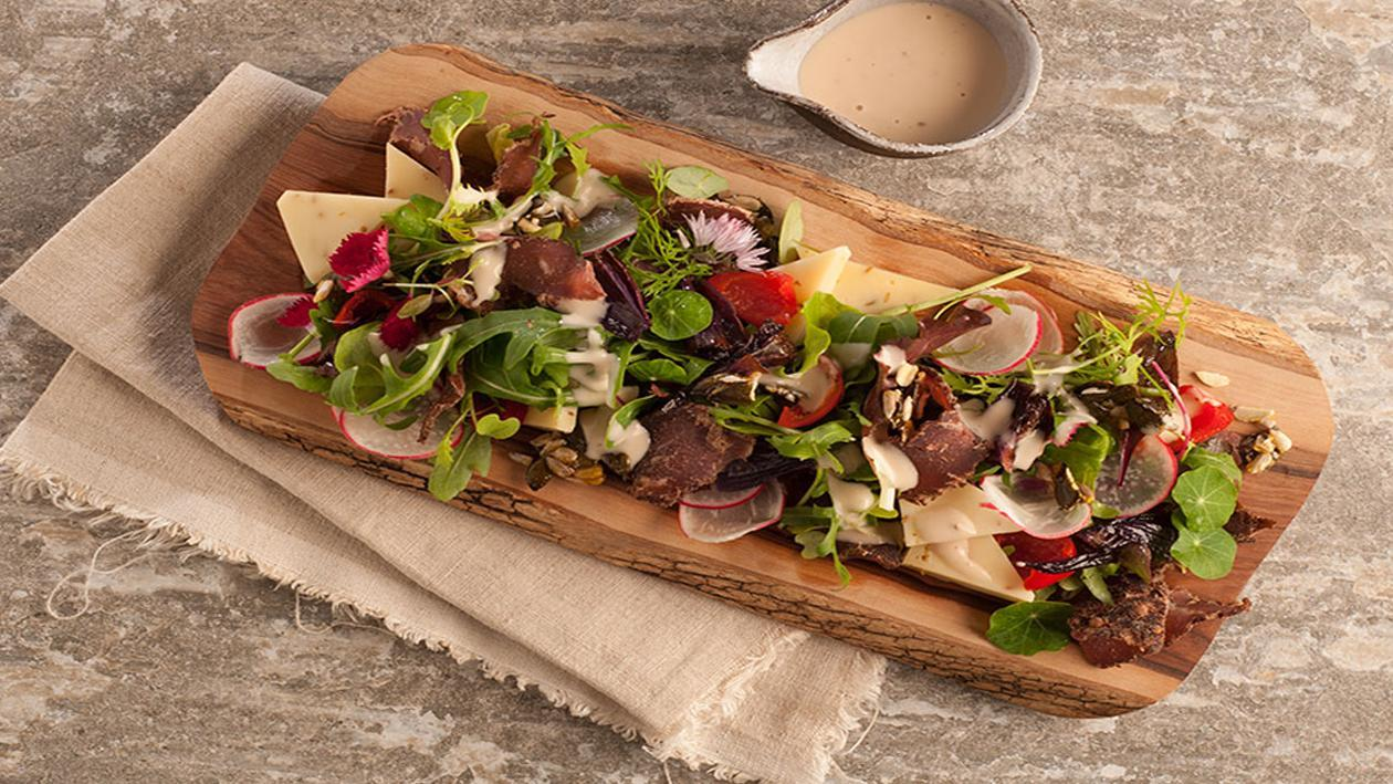 Biltong and Cumin Cheese salad