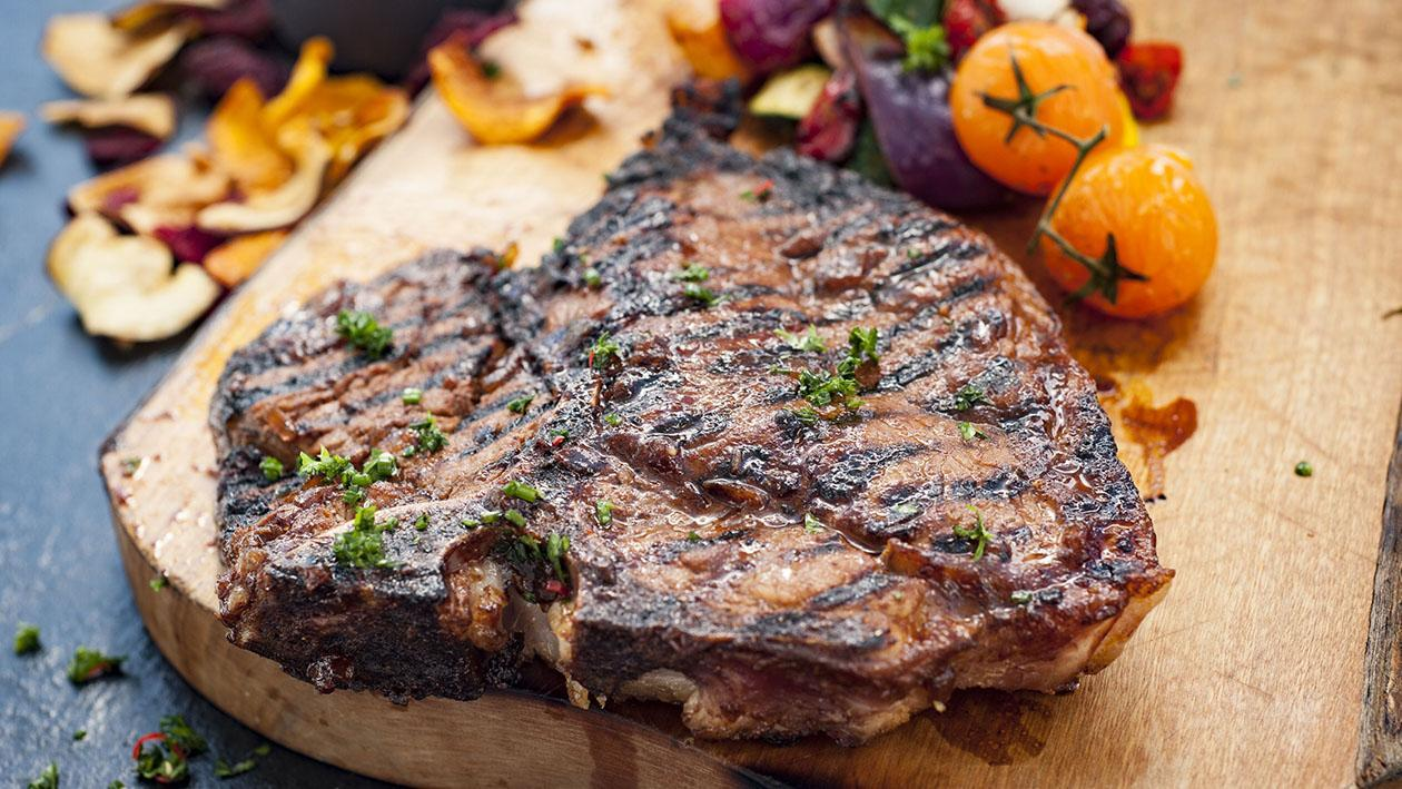 Char-grilled Honey & Paprika Glazed Steak