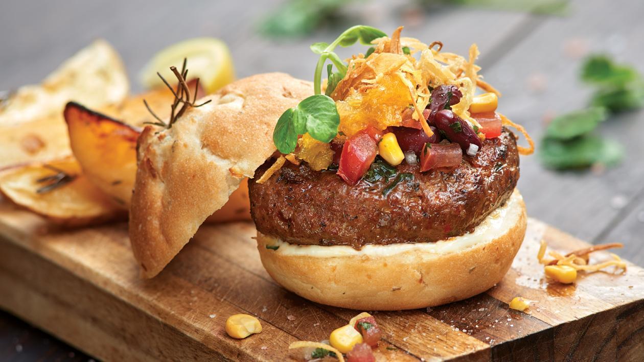 Chef Nardia's Cajun Beef Burger