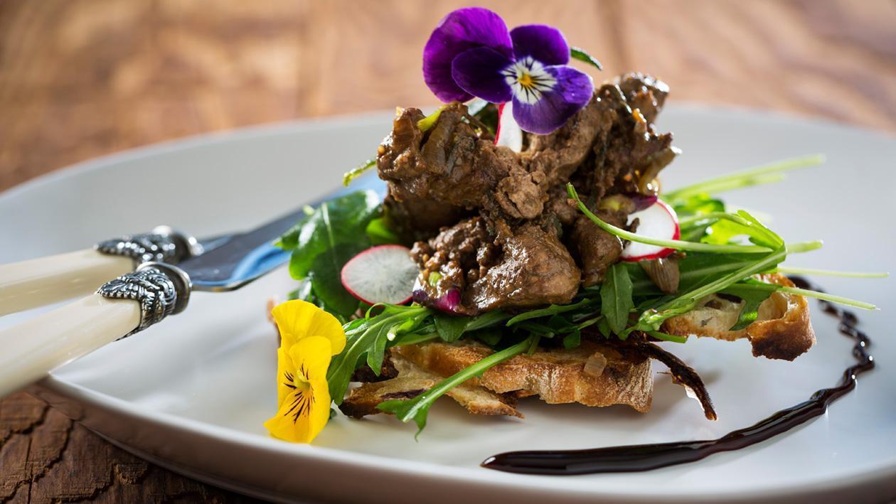 Chicken livers sautéed with Sage
