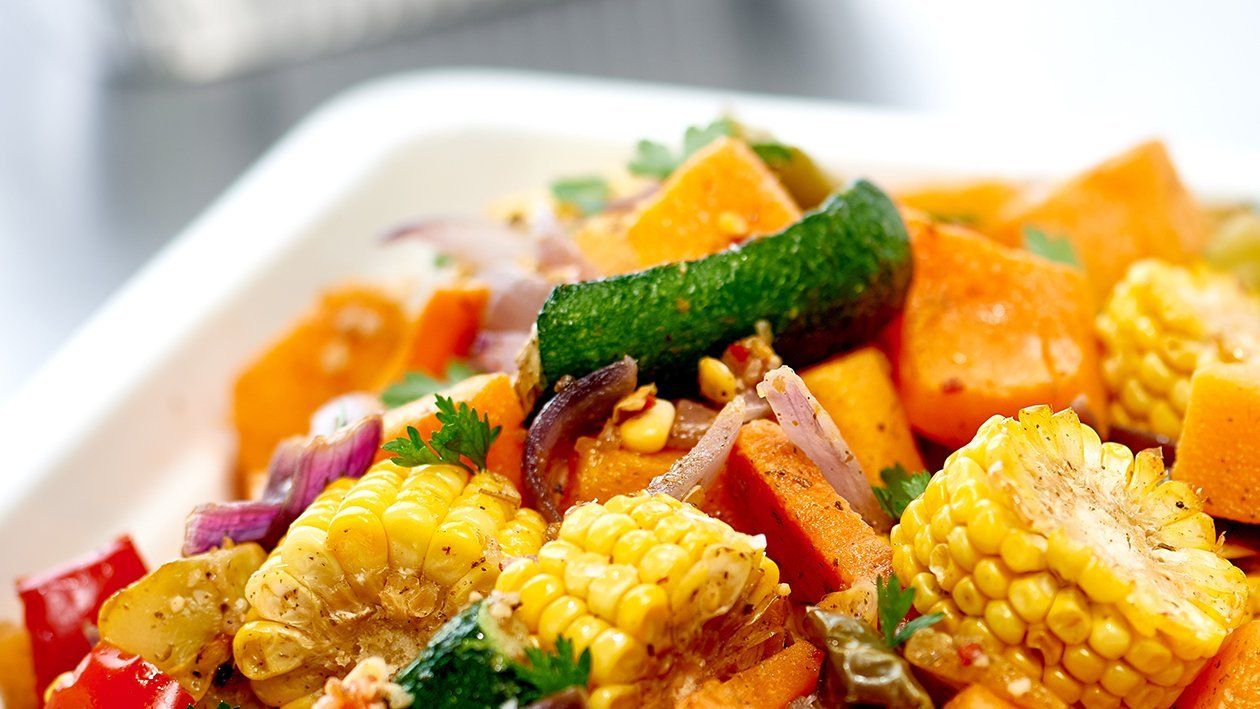 Corn and Roasted Vegetables