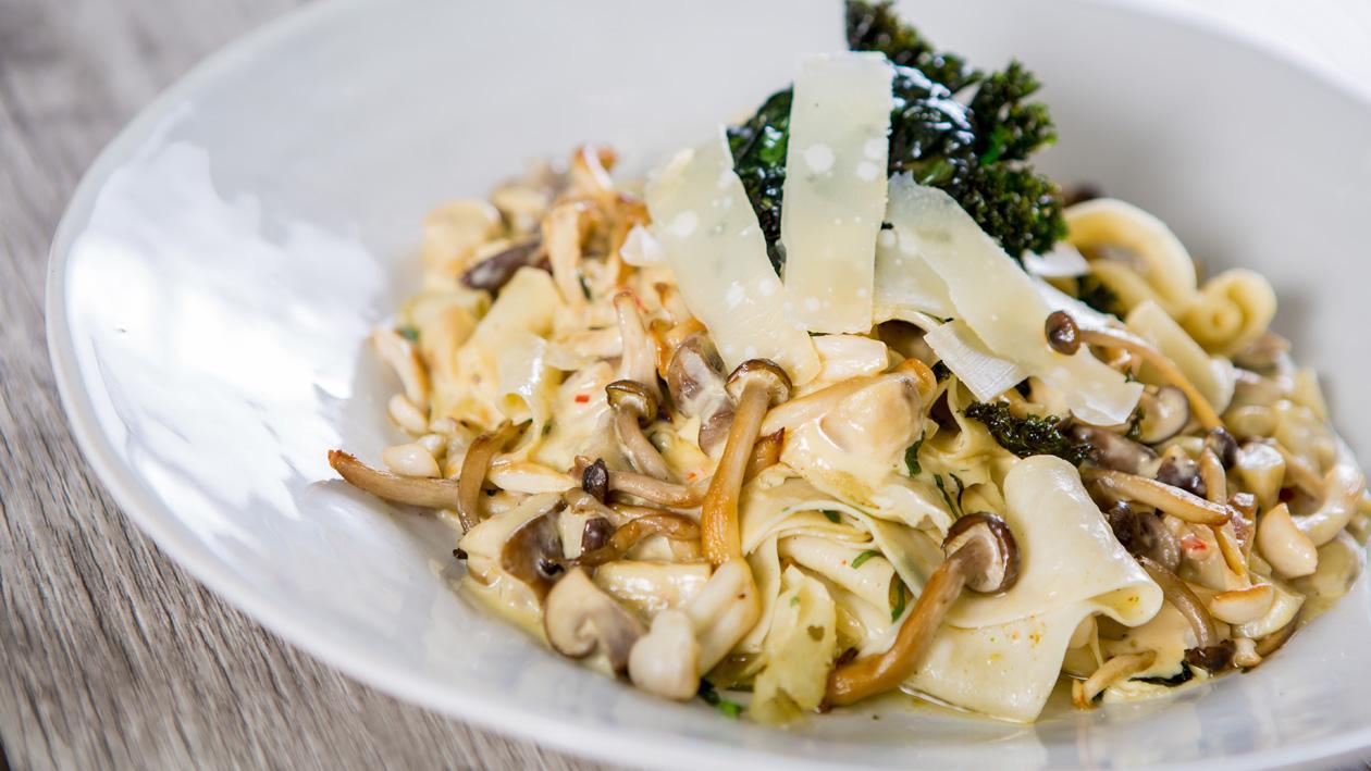 Creamy Wild Mushroom Pasta