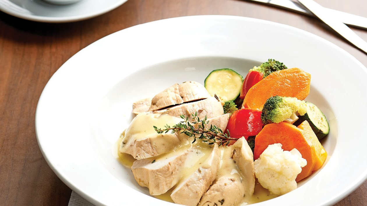 Earl Grey Poached Chicken