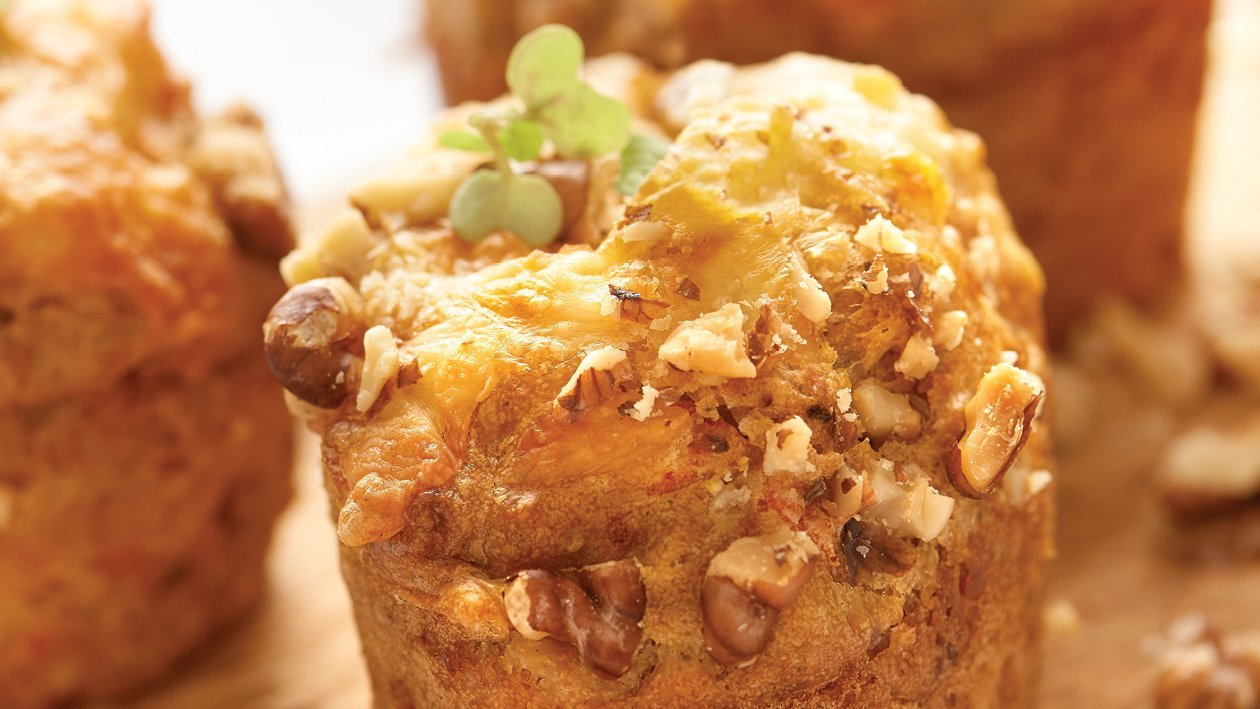 Eggless Carrot and Herb Muffin
