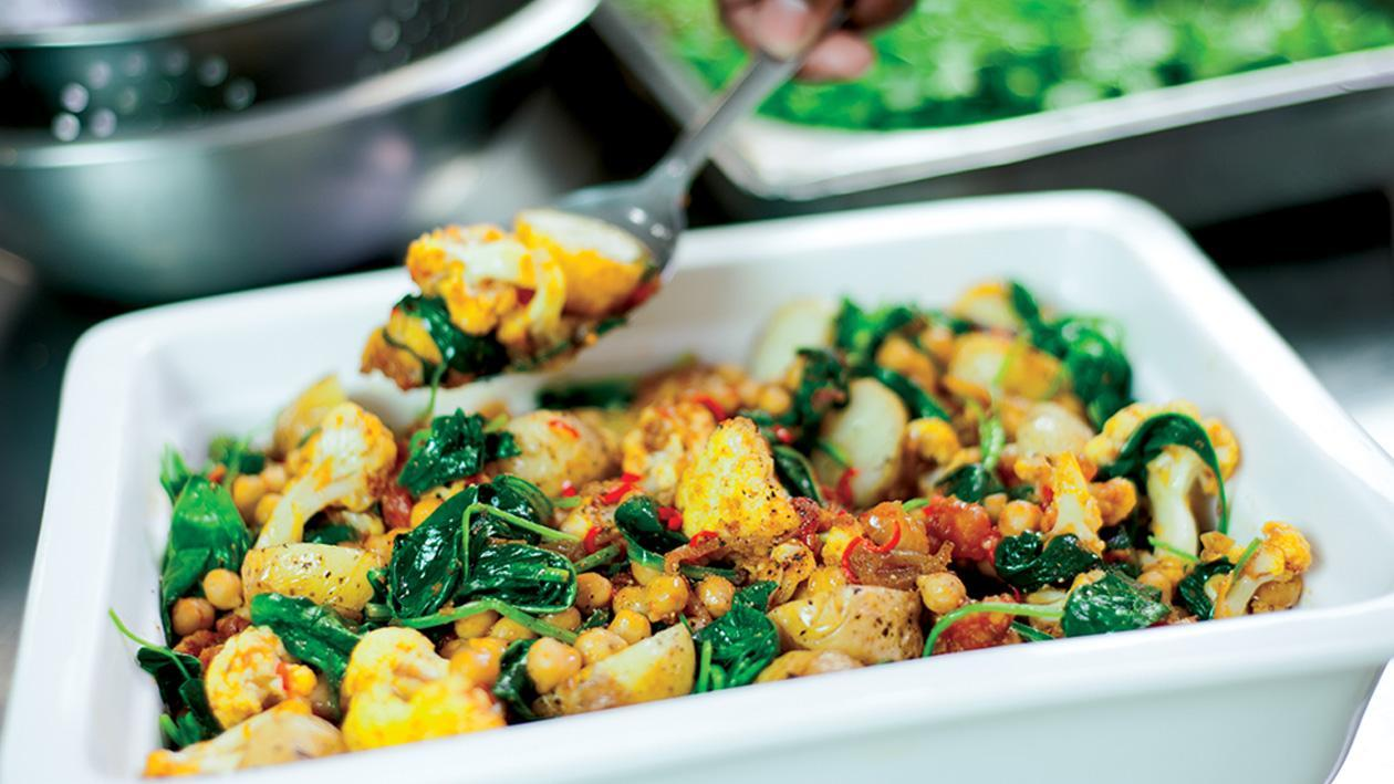 Fiery Cauliflower with a Coriander Blast