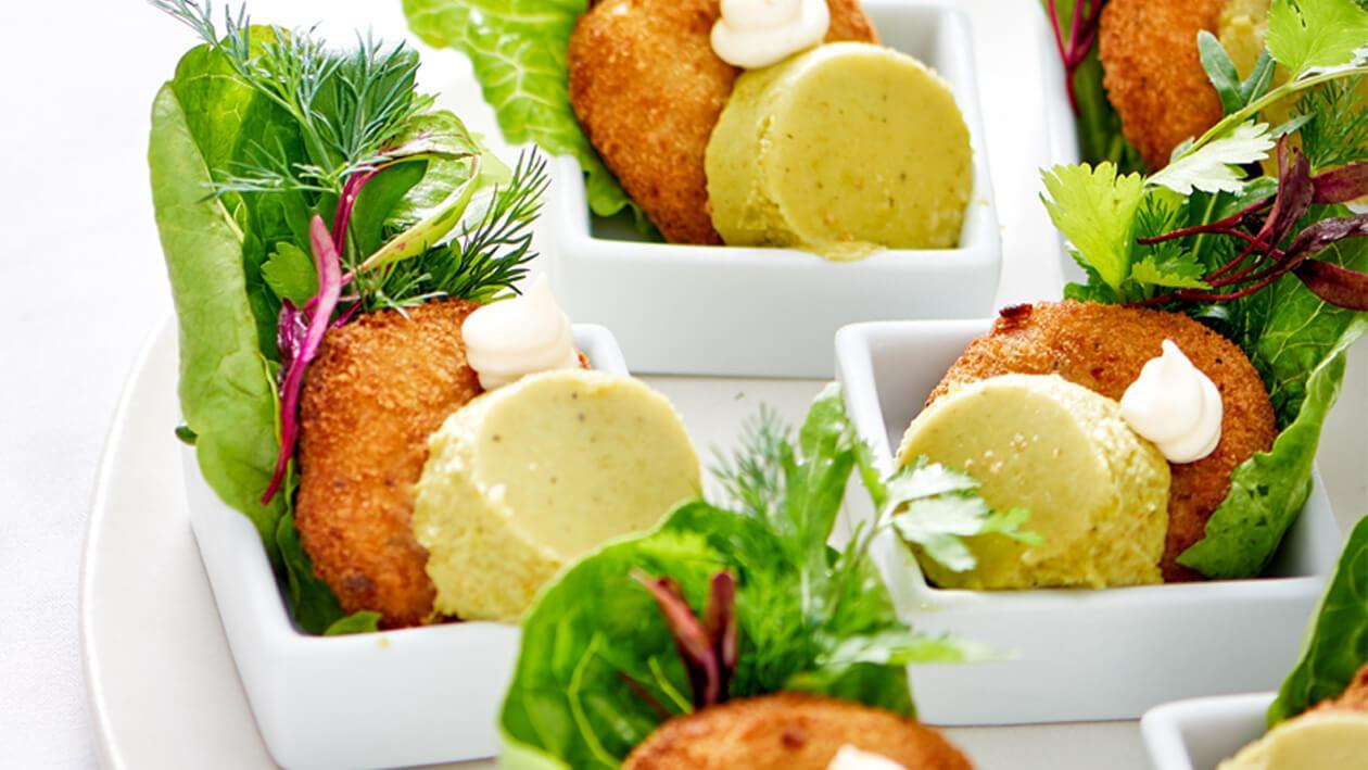 Fish Cake With A Sweet Pea Mousse
