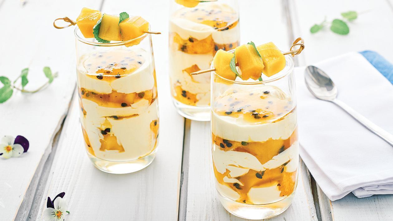 Fruity Mango Brulee