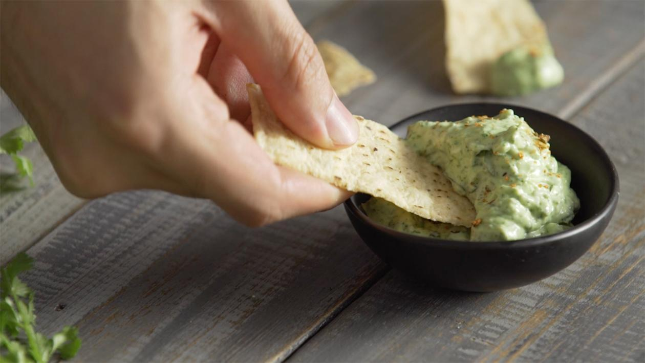 Green Chicmichurri Cream Cheese Dip