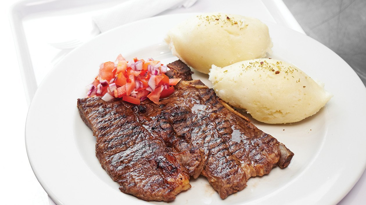 Grilled Chuck Steak with Ushatini