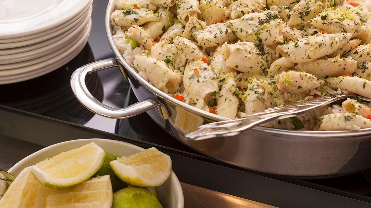 Grilled Lemon and Herb Calamari