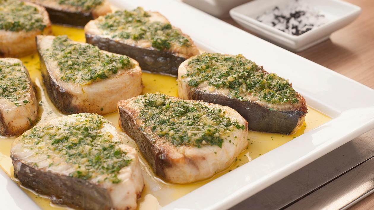 Grilled Linefish with Melted Gremolata Sauce