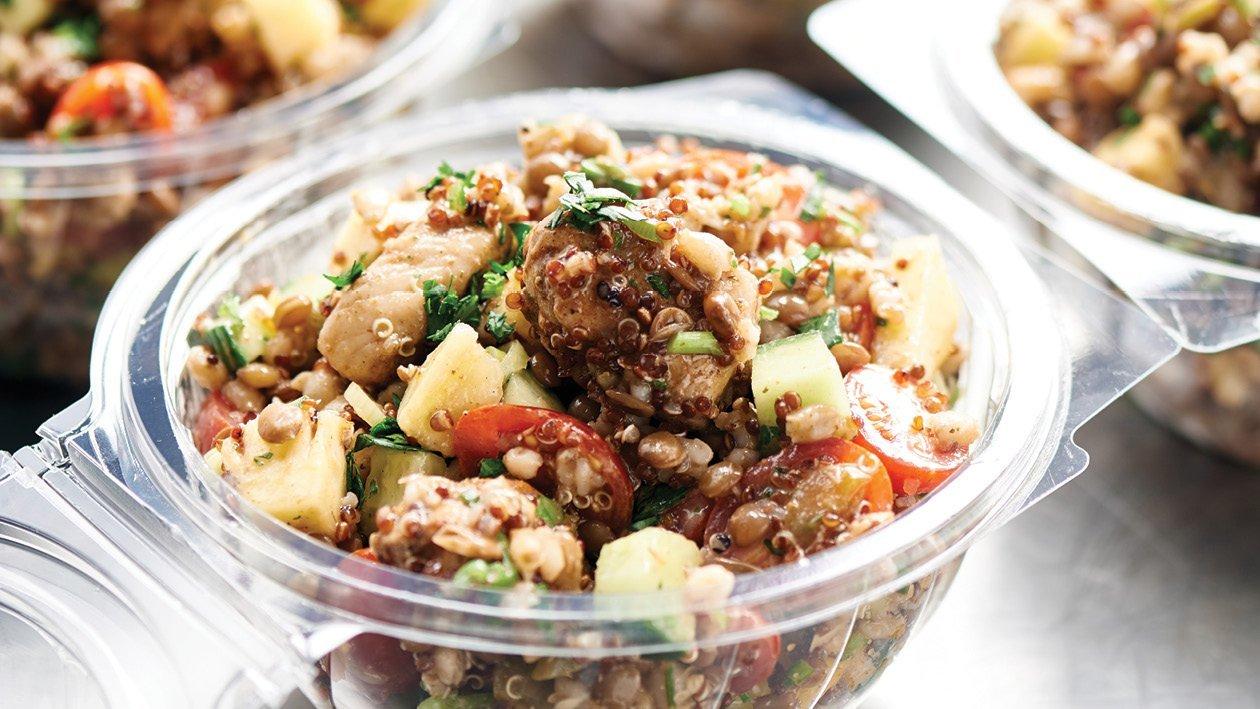 Hawaiian Chicken, Barley, Lentil and Quinoa Salad