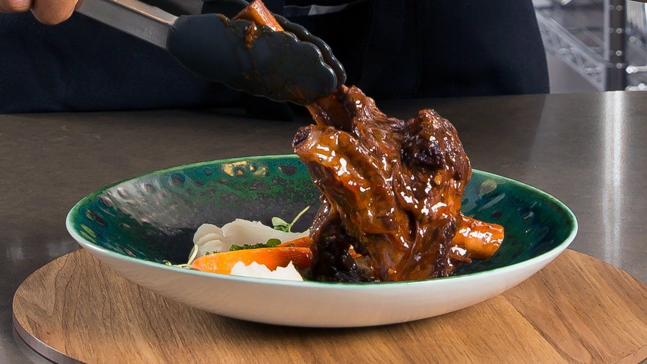 Lamb Shanks Braised in a Red Wine and Tomato Sauce