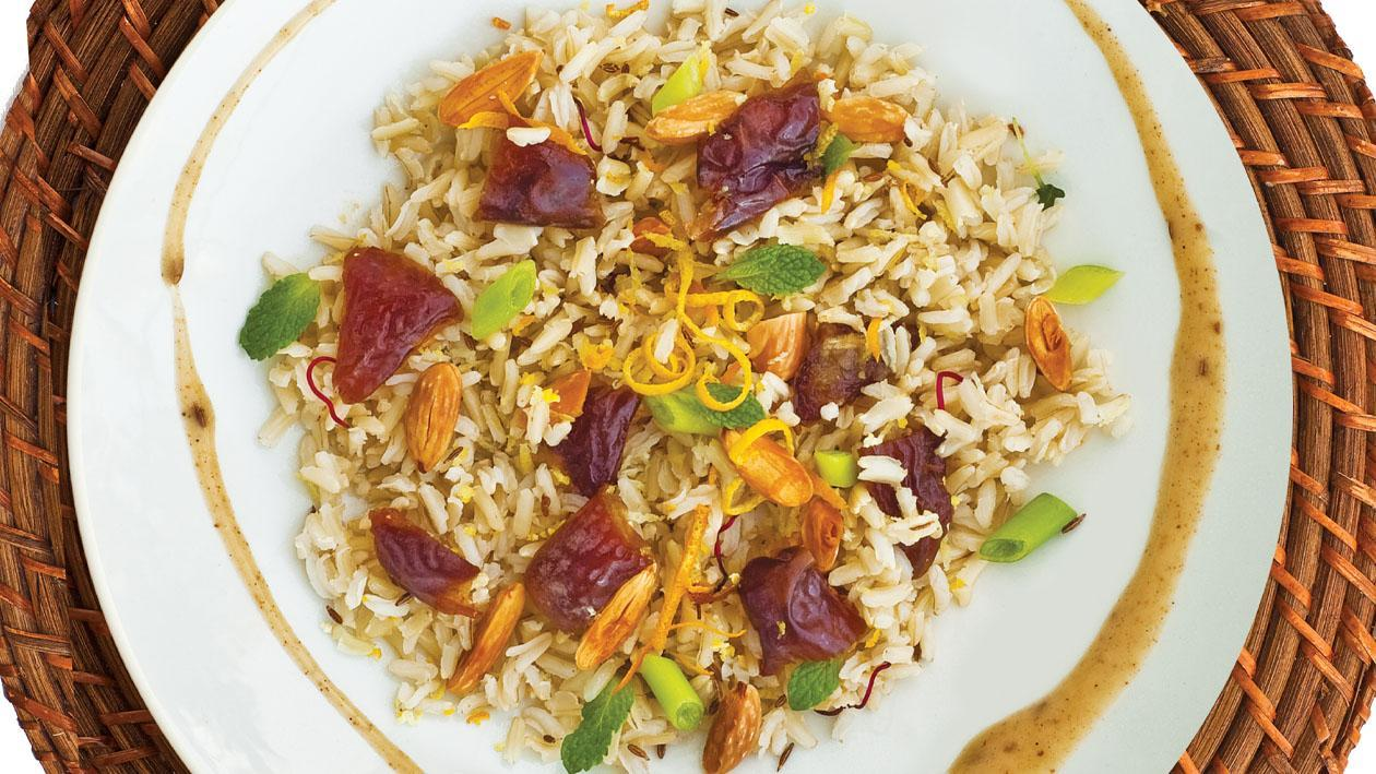 Moroccan Rice Salad with Toasted Cumin, Coriander Honey & Mustard Dressing