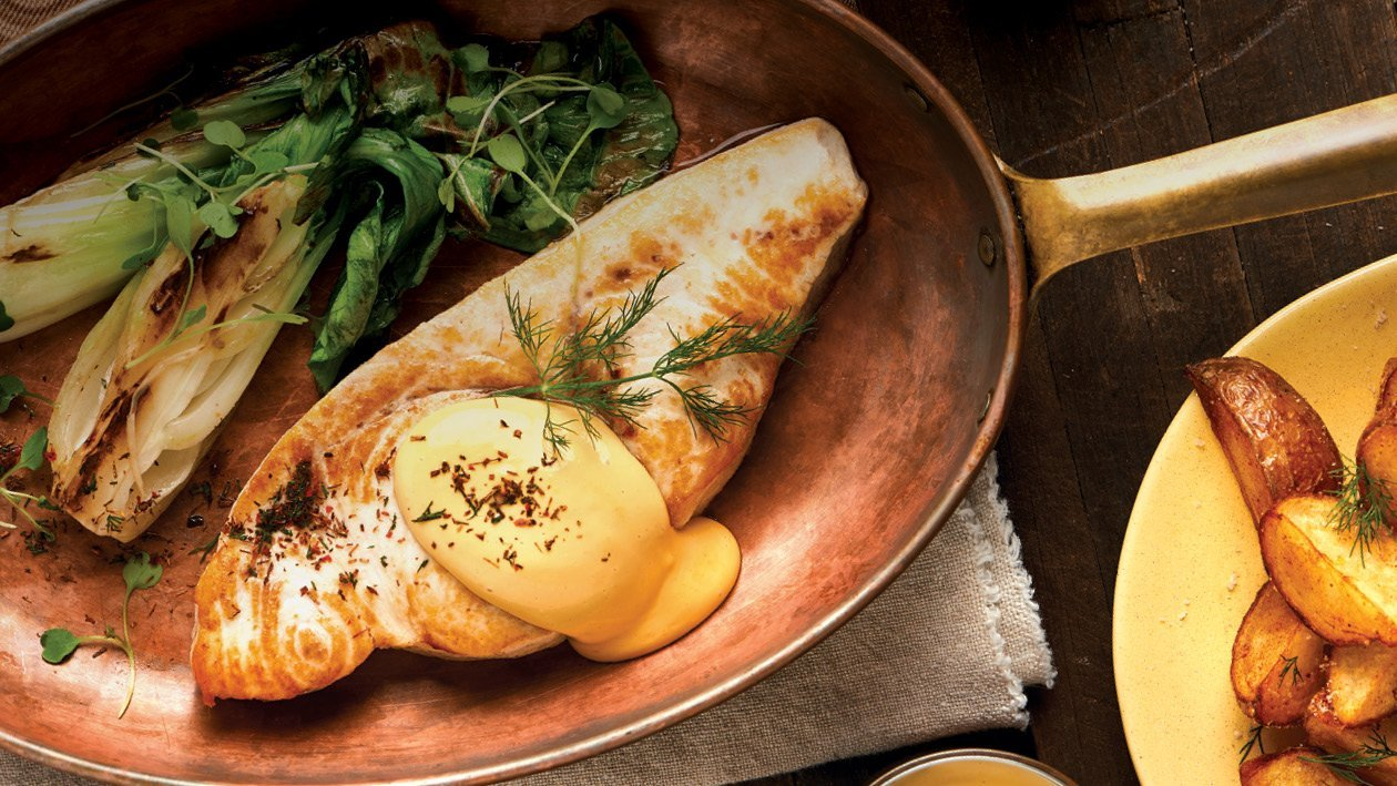 Pan-fried Linefish Topped with Citrus Rooibos Hollandaise