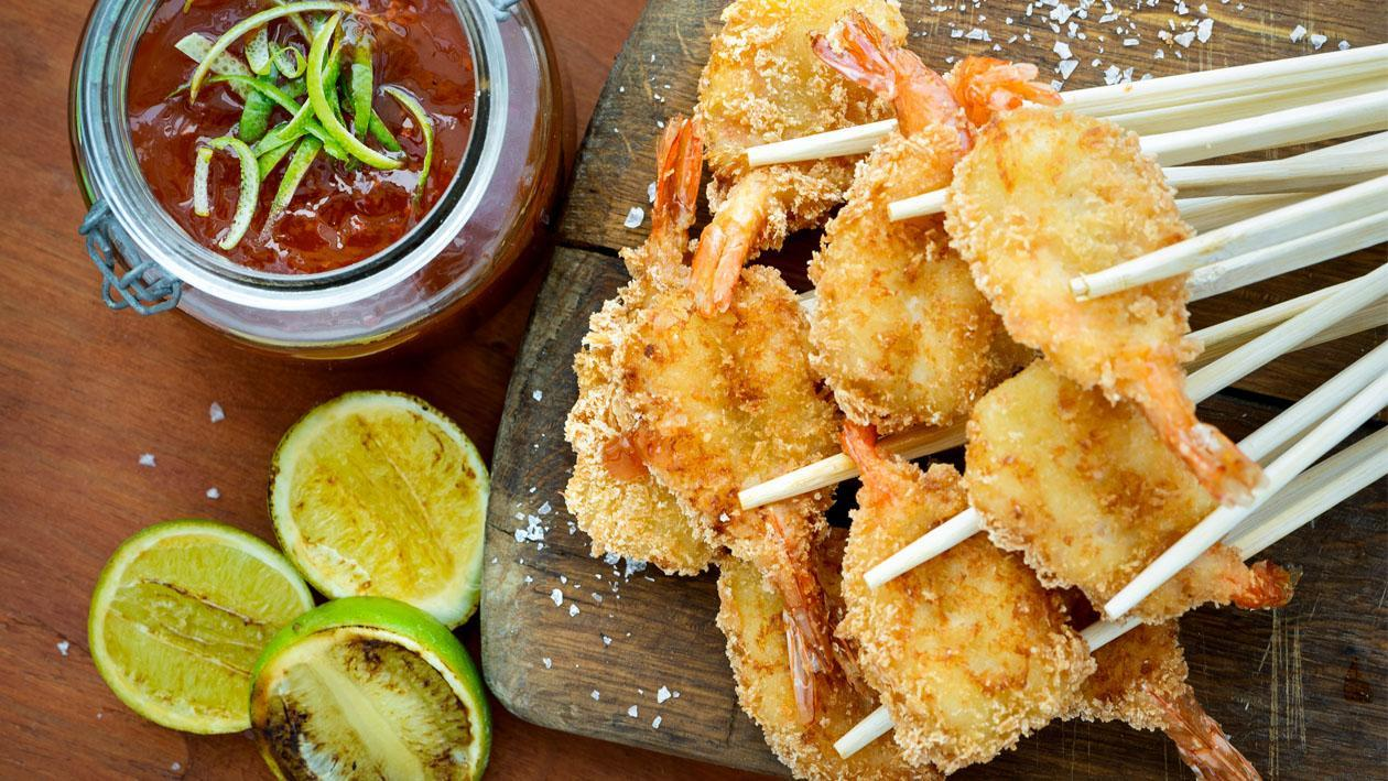 Panko Prawns and Lime Sweet Chilli Dipping Sauce