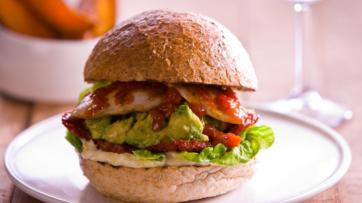 Peri- Peri Chicken Avocado Burger