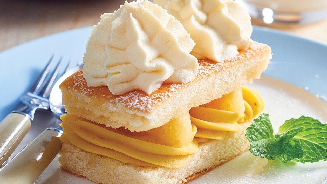 Pineapple Cream Sponge Cake