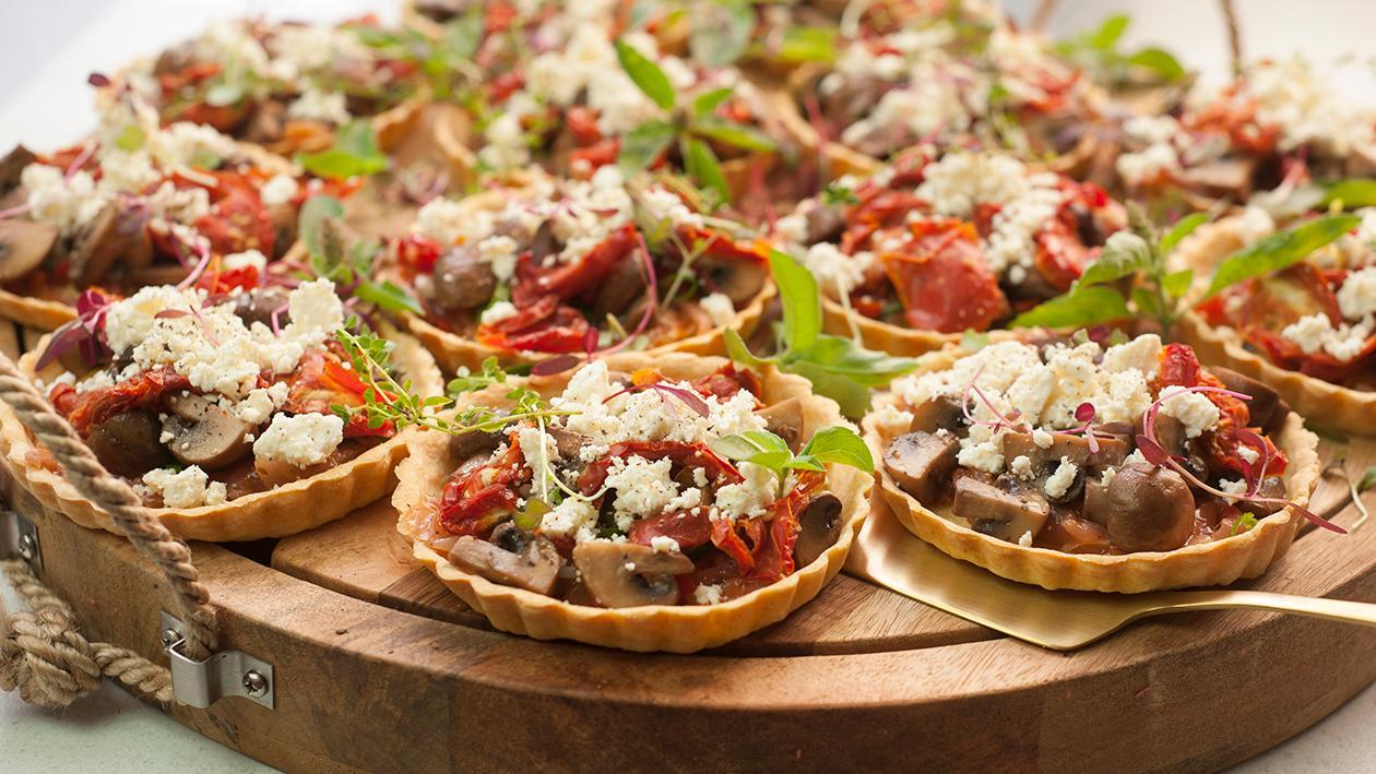Portabella Mushroom, Red Onion and Basil Tartlet