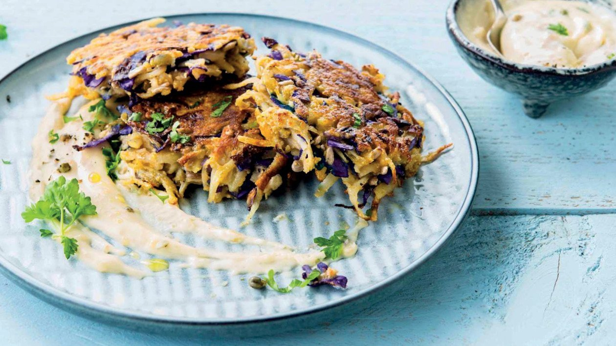 Potato Cakes with Red Cabbage