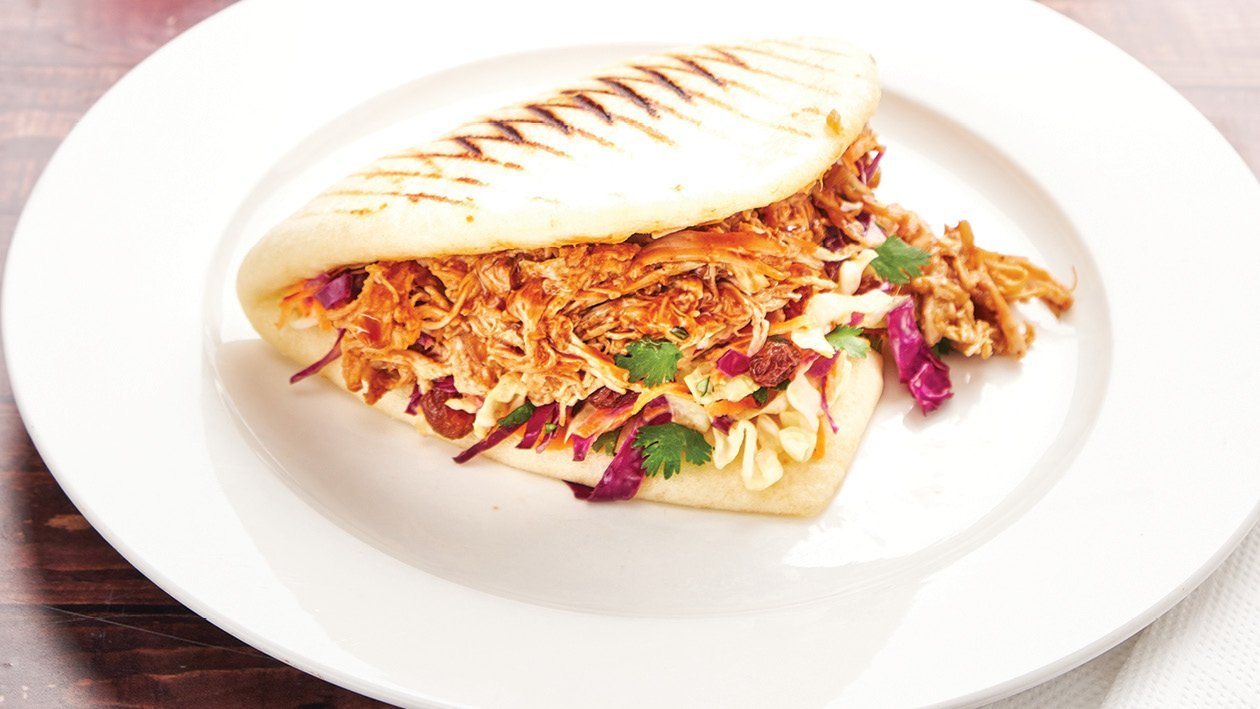 Pulled Chicken, Red Slaw Bao Buns