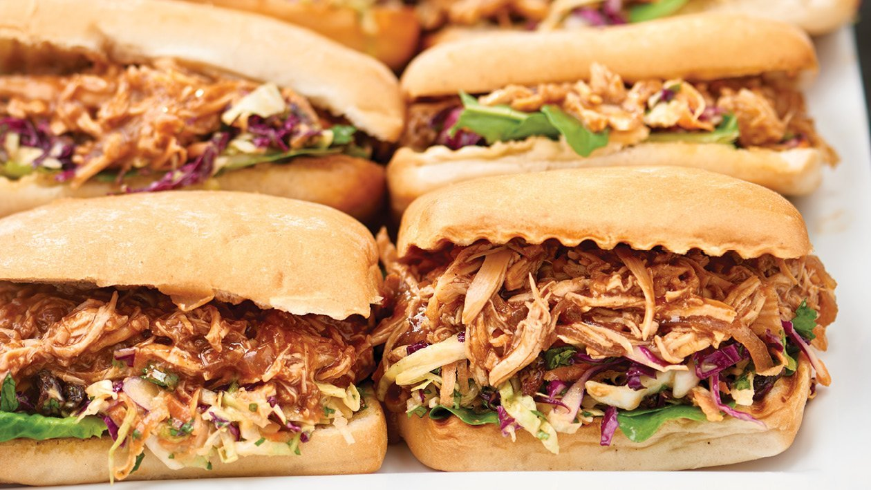 Pulled Chicken Slaw Sandwich