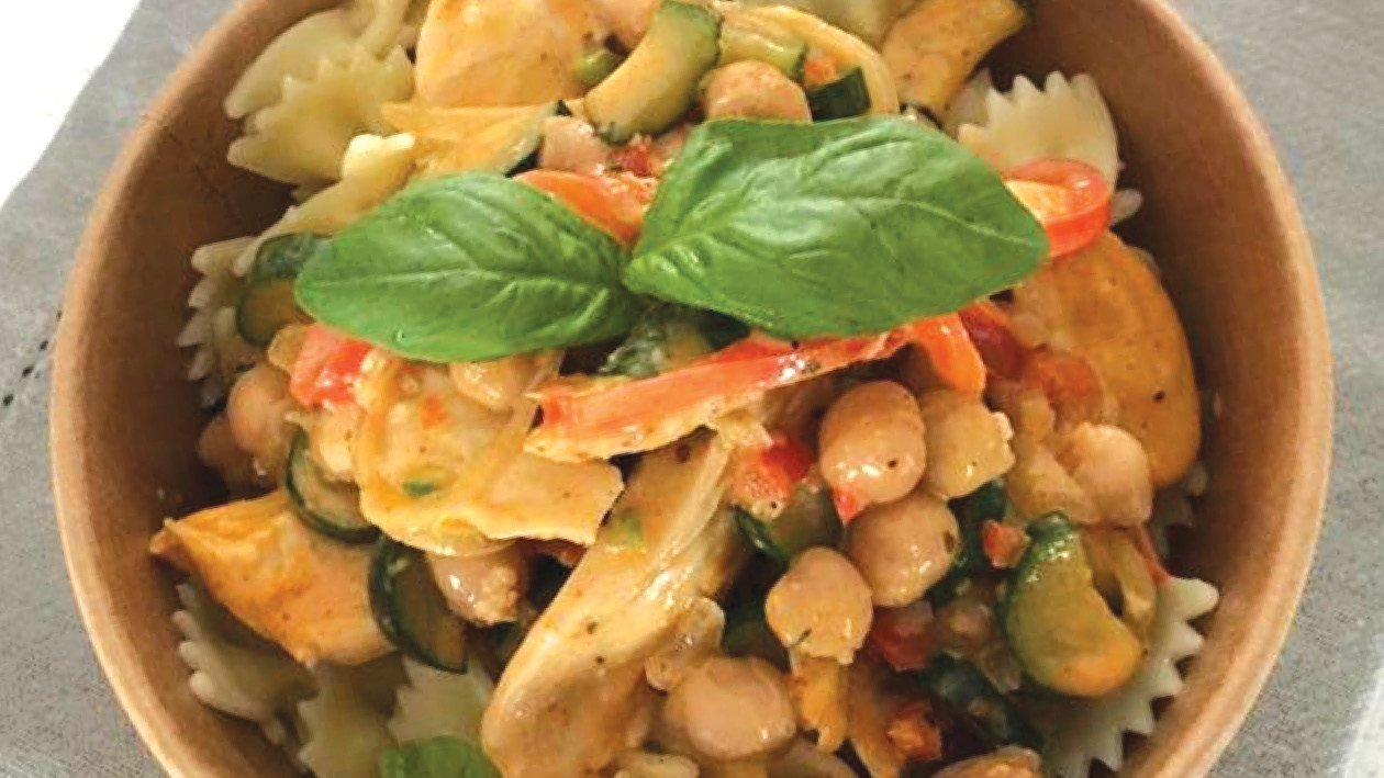 Red Thai Coconut Chicken Pasta
