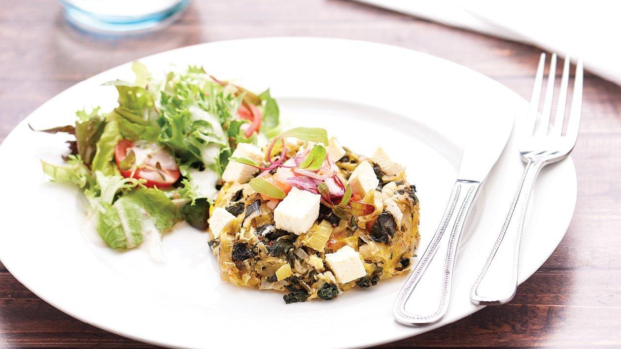 Roasted Butternut, Leek and Spinach Crustless Quiche