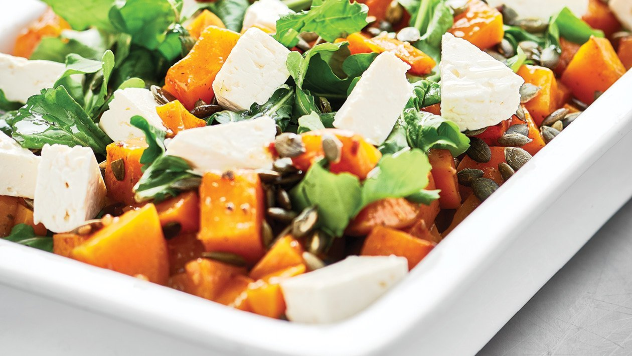 Roasted Butternut Salad with Toasted Pumpkin Seeds