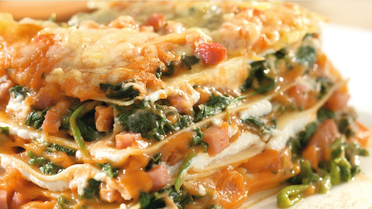 Spinach and Lentil Lasagne