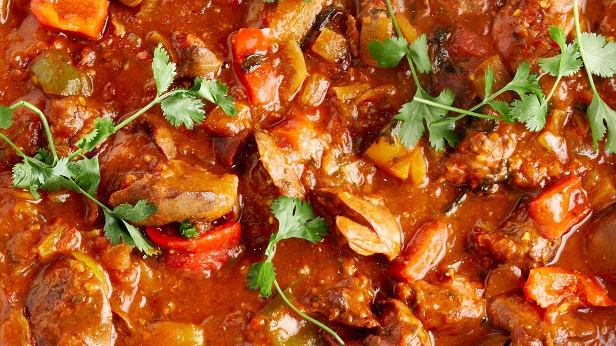 Sweet and Spicy Chicken Livers