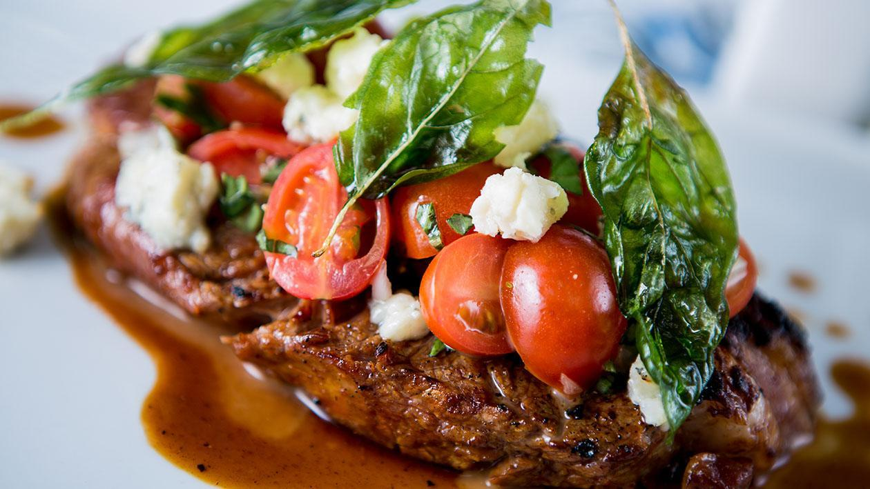 Tomato & Blue Cheese Grilled Sirloin