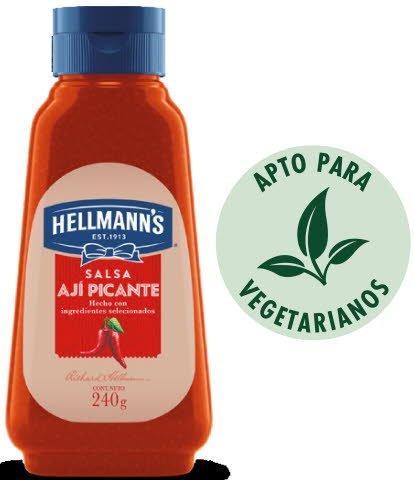 Ají Picante Hellmann's 240g (Exclusivo de Argentina). -