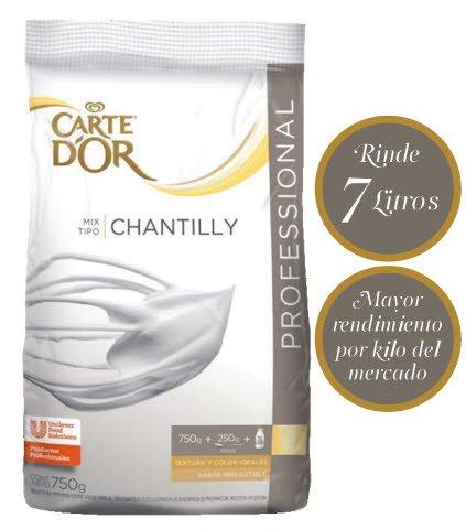 Crema Chantilly en Polvo Carte D'Or 6 x 0,75kg