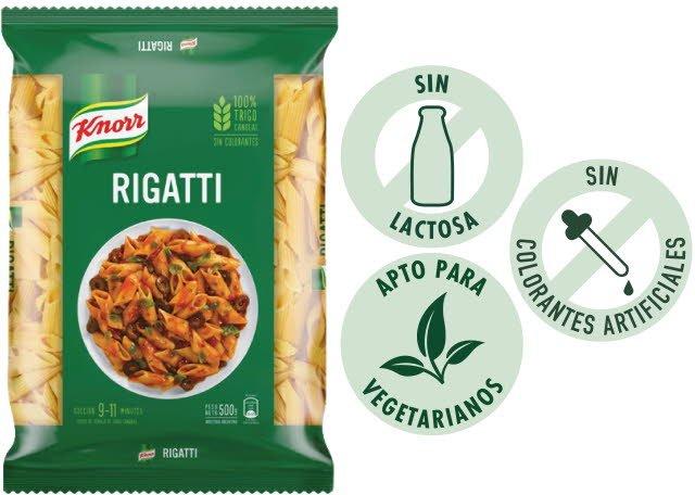 Fideos Rigatti Knorr 500G (Exclusivo de Argentina) -