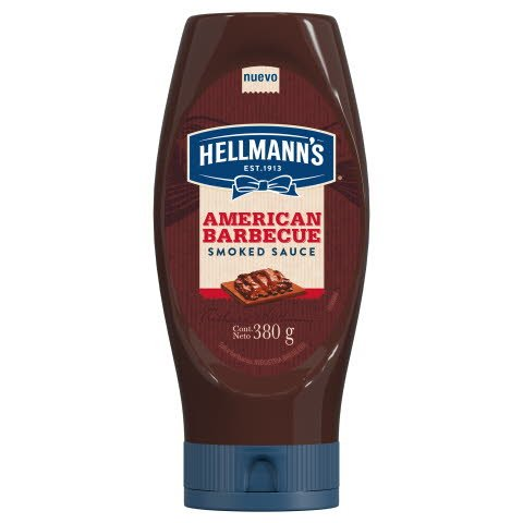 Hellmann's Berbecue Sauce American Squeeze 24x380G