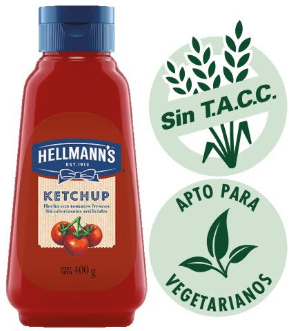 Ketchup Hellmann's 400g (Exclusivo de Argentina) -