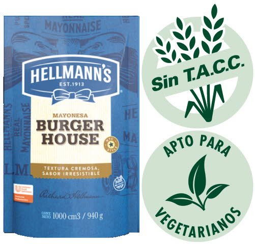 Mayonesa Burger House Hellmann's 940G -