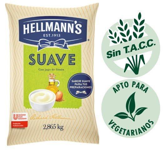 Mayonesa Suave Hellmann's 2.86kg (Exclusivo de Argentina, Paraguay) -