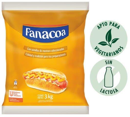 Mostaza Fanacoa 3KG (Excusivo de Argentina, Uruguay)