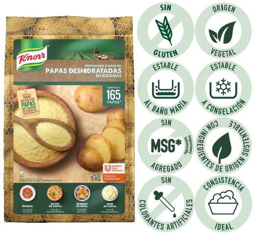 Papas Deshidratadas en escamas Knorr 5 kg -