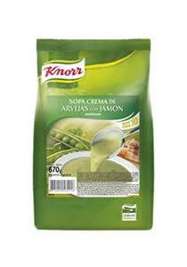 Sopa Crema de Arvejas con Jamón Knorr 630G (Exclusivo de Argentina, Uruguay)