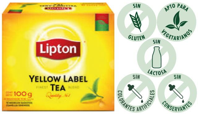 Té Yellow Label Lipton 50 BLS (Exclusivo de Uruguay)