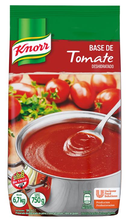 Base de Tomate Deshidratado Knorr 750 G (Exclusivo de Argentina) - Base de Tomate Deshidratado Knorr: Acidez ideal para tu salsa fileto.