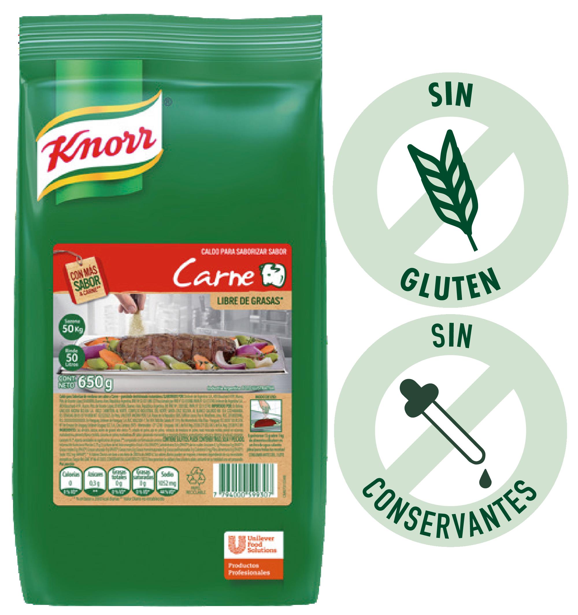 Caldo para Saborizar de Carne Knorr 650g - Los Caldos Granulados Knorr te ayudan a realzar ese sabor. Probalos!
