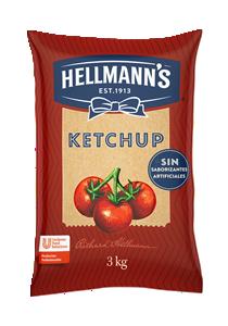 Ketchup Hellmann´s 3KG - El ketchup Hellmann's es naturalmente rico para que puedas sorprender a tus comensales con la mejor calidad y el mejor sabor.