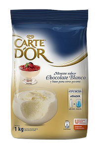 Mousse de Chocolate Blanco Carte D'or 1KG - Polvo para preparar postre sabor Chocolate blanco.