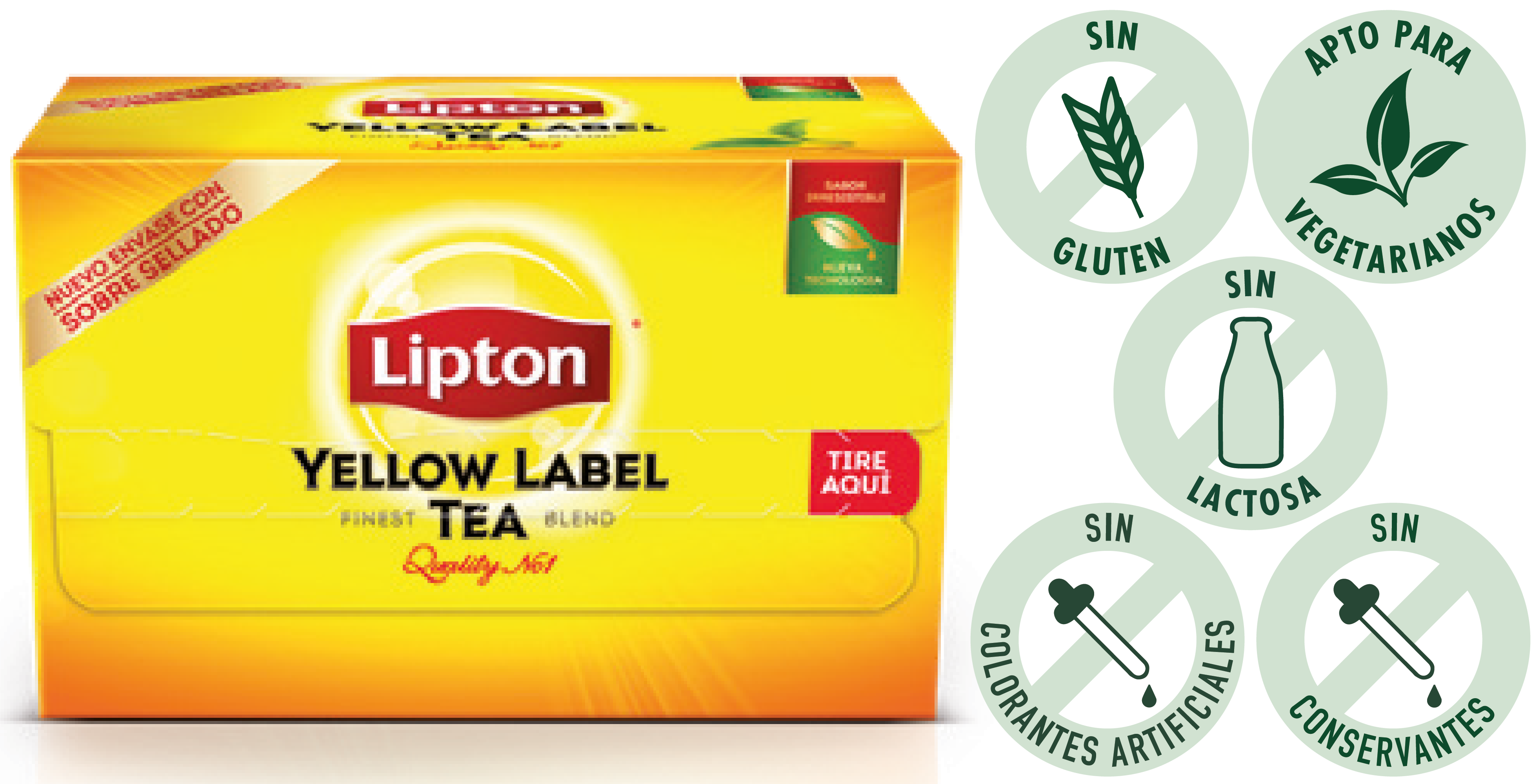Té Yellow Label Exp Lipton 20 BLS (Exclusivo de Argentina)