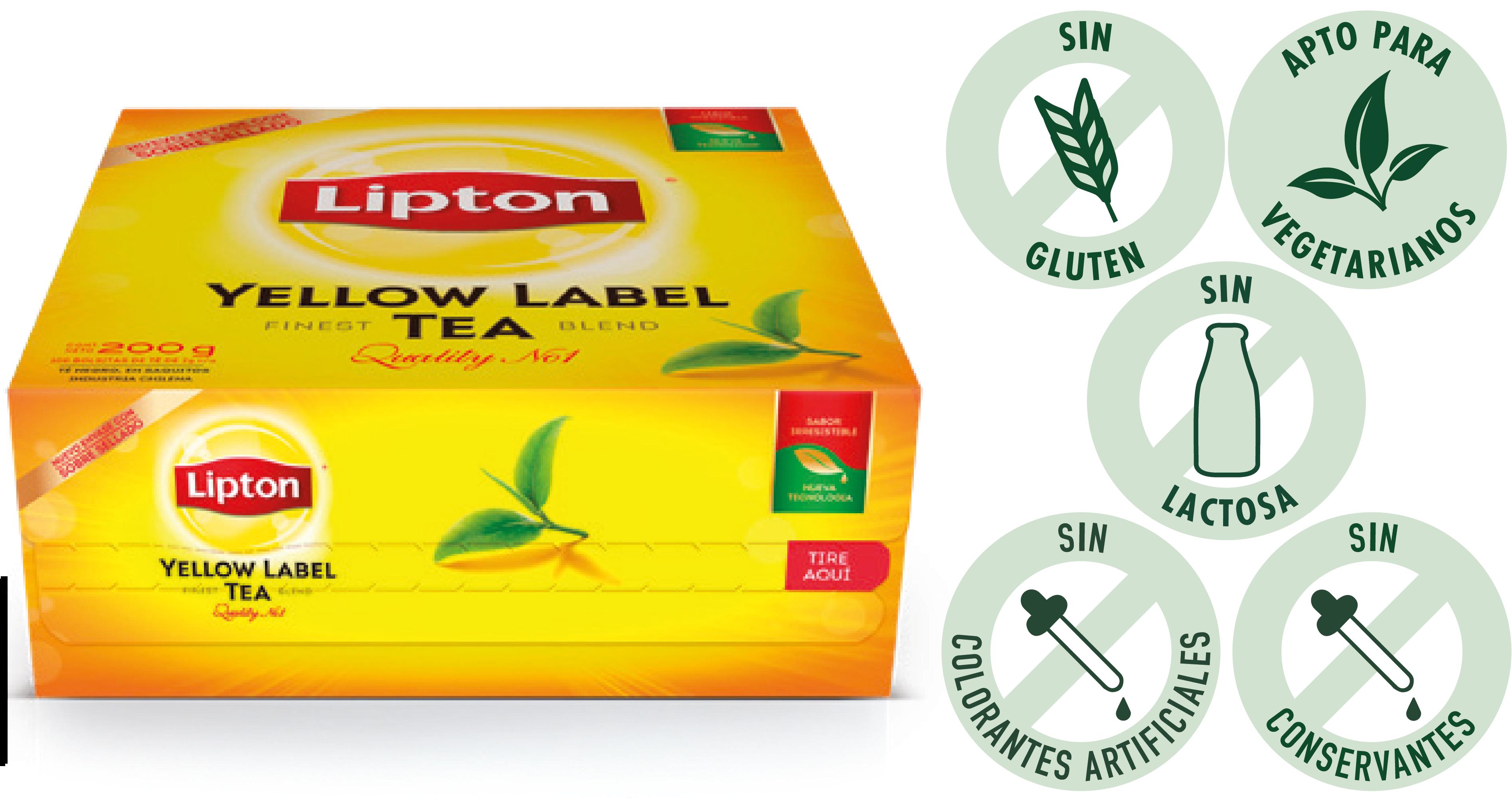 Té Yellow Label Lipton 100 BLS (Exclusivo de Argentina)